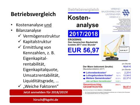Kostenanalyse & Kennzahlenvergleich 2018/2019 – Sonderaktion für neue Teilnehmer