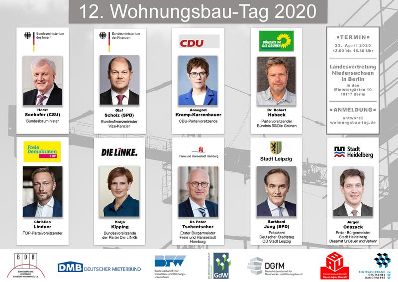 12. Wohnungsbau-Tag 2020 - Save the Date